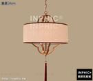 INPHIC-新中式吊燈創意簡約餐廳燈具臥室書房布藝圓形燈籠茶樓酒店燈飾-直徑50cm_S3081C