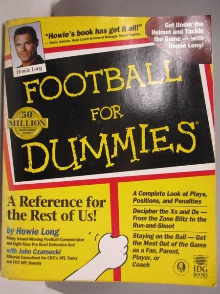 【書寶二手書T7/體育_DBE】Football for Dummies_Long, Howie/ Czarnecki, John