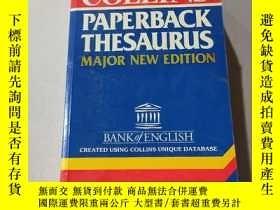 二手書博民逛書店PAPERBACK罕見THESAURUS:平裝同義詞典Y212829