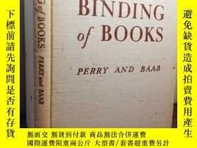 二手書博民逛書店1940年罕見THE BINDING OF BOOKS BY F