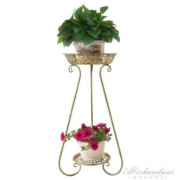 歐式地面綠蘿吊蘭多肉鐵藝花架多層室內陽台客廳多功能花架植物架 igo黛尼時尚精品