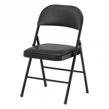 新鐵管橋牌椅 45x47x76.5cm 黑色加強鐵框型座墊