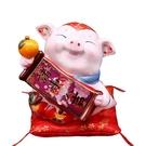 【金石工坊】己亥年生肖豬年-諸事大吉豬撲滿(中) 陶瓷撲滿擺飾
