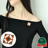 方塊花朵胸針女網紅新款復古別針固定衣服胸花裝飾【福喜行】