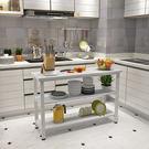 置物架切菜桌家用簡易廚房操作台置物桌三層...