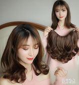 一片式蓬松短髮片 假髮女V型大波浪卷髮假髮片隱形無痕接髮假頭髮 zh6515【歐爸生活館】