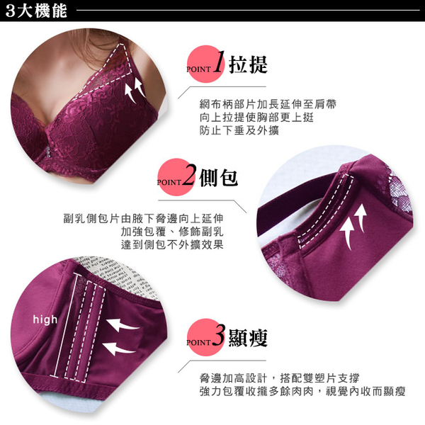 EASY SHOP-微醺開運 美背款A-D罩內衣(開運紅)