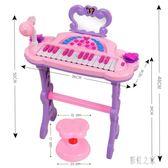 電子琴 俏娃寶貝兒童女孩小鋼琴初學者女寶寶益智音樂玩具生日禮物 DR19529【彩虹之家】