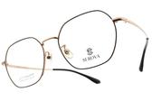 SEROVA光學眼鏡 SC182 C7 (黑-金) 韓風多邊造型款  #金橘眼鏡