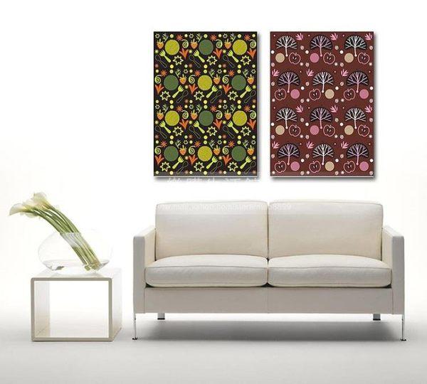 客廳裝飾壁畫/無框畫-抽像類【30*40*0.9兩幅】LG-00311055