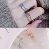 《Caroline》★韓國熱賣造型時尚  水鑽晶透閃亮秀雅戒指71159