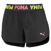 PUMA Modern Sports 女裝 短褲 訓練 休閒 5吋 前短後長 亞規 黑【運動世界】58304401
