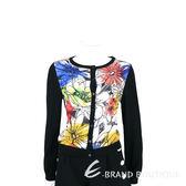 BOUTIQUE MOSCHINO 黑色花朵塗鴉針織外套 1630265-01