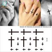 防水 紋身 貼紙 男女款 手指 十字架 小圖案 小清新 刺青