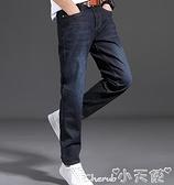 牛仔褲 純棉工作牛仔褲男夏季青年直筒寬鬆彈力耐磨電焊汽修勞保工人大碼 小天使