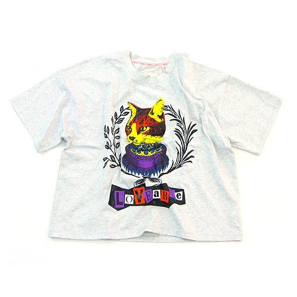 Salad 桂冠貓咪圖騰短袖T恤