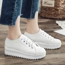 【限量現貨供應】饅頭鞋.MIT休閒學院風綁帶厚底圓頭帆布包鞋.白鳥麗子