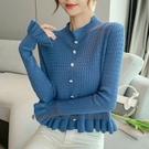 依Baby 秋季新款韓版寬鬆套頭毛衣魚尾下擺復古針織衫