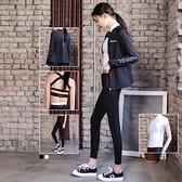 瑜珈服運動套裝(四件套)-戶外時尚慢跑休閒女健身衣2色73mt13【時尚巴黎】