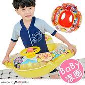 夏季兒童卡通圖案方向盤座圈 泳圈