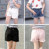 年末鉅惠 童裝夏裝新品女童水洗粉色、白色、黑色牛仔短褲中大女童熱褲