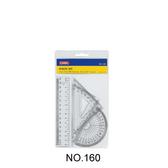 【三燕 COX 三角板組】160 塑膠尺組/三角尺/量角器(三角板/直尺/半圓)