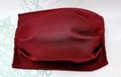 【2004102】口罩布套(酒紅色)1入 側面可放醫用口罩 台灣手工製作 防塵口罩 防護口罩
