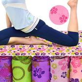 細纖維花紋運動鋪巾(送收納袋)瑜珈鋪巾瑜珈墊瑜珈毯子腳踏墊子.健身瑜珈用品推薦哪裡買ptt