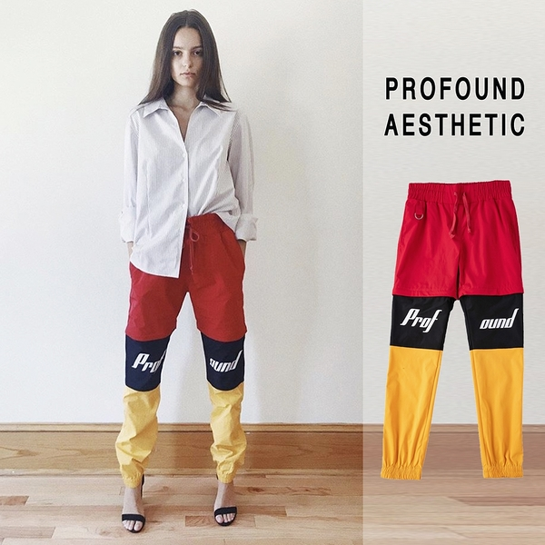【GT】Profound Aesthetic Racing Windbreaker 黑紅黃 長褲 賽車 尼龍 短褲 五分褲 可拆式 縮口褲