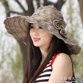 遮陽帽女夏遮臉防紫外線防曬可折疊沙灘帽出游百搭女士太陽帽涼帽 完美情人精品館