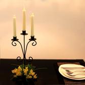 鐵藝蠟燭台歐式燭台創意浪漫燭光晚餐 婚禮攝影道具生日擺件禮品 露露日記
