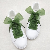 鞋帶-新品 4cm寬雪紗蕾絲鞋帶女 小白鞋個性百搭彩色大蝴蝶結絲帶鞋帶 多麗絲旗艦店