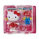 Sanrio 換裝娃娃組 擺飾玩偶 公仔 HELLO KITTY 吊帶褲 紅_261009