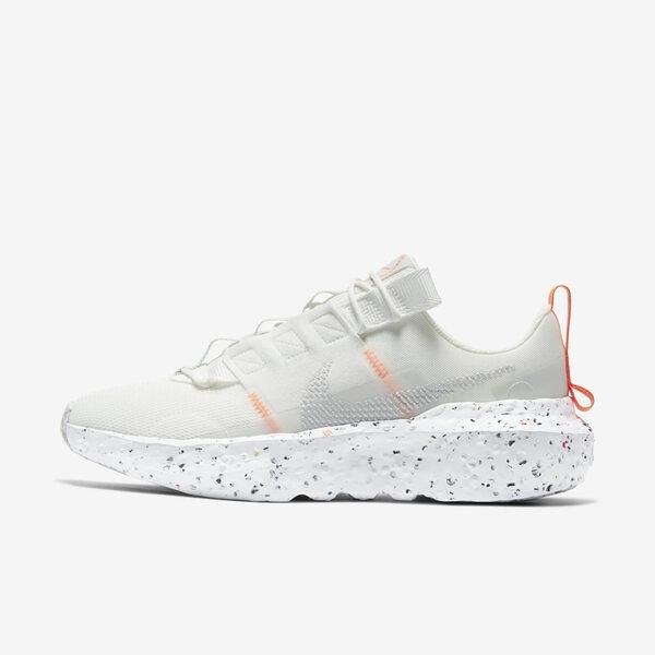 Nike Wmns Crater Impact [CW2386-100] 女鞋 運動 休閒 輕量 透氣 舒適 白 橘