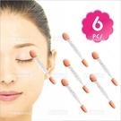 透明桿雙頭乳膠眼影棒-6入[96395]臉部彩妝刷具/專櫃新祕一次性