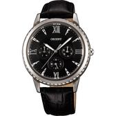 ORIENT 東方錶 CASUAL 璀璨晶鑽日曆手錶-黑/39mm FSW03004B