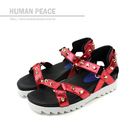 HUMAN PEACE 涼鞋 紅色 女鞋 no362
