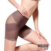 Mollifix瑪莉菲絲 X牛仔肚 收腰翹翹3分褲 (咖金)