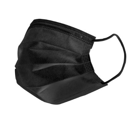 【雙鋼印】釩泰醫用口罩(未滅菌)50入/盒,黑色成人口罩