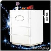 【水晶晶家具/傢俱首選】天使2.7*2.9呎白色鋼琴烤漆四斗櫃 JF8062-2