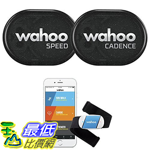 [106美國直購] 感應組 Wahoo RPM Sensor iPhone Android Bike Computers(Speed, Cadence, and Heart Rate Monitor)