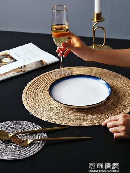 餐桌墊4片裝日式圓形餐墊西餐墊創意餐桌墊家用北歐盤墊碗墊杯墊隔熱墊  【快速出貨】