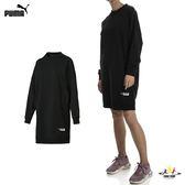 Puma Trailblazer 女款 黑 長版上衣 連身裙 素色 長袖 上衣 運動風 運動 健身 休閒 長板T 57803701