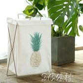 洗衣籃布藝折疊大號臟衣簍玩具收納桶簡約鐵藝3C公社YYP