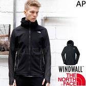 The North Face 3CHC-JK3黑 TNF男防風防水外套 亞規 WindWall戶外機能服/運動風衣/登山軟殼衣