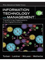 二手書Information Technology for Management: Transforming Organizations in the Digital Economy, 6/e R2Y 0470041609