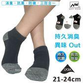 短襪  導氣網抗菌消臭襪  1/4襪  台灣製  ANUAN