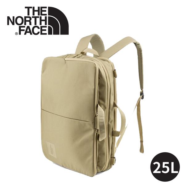 【The North Face SHUTTLE 3WAY輕量抗撕裂後背包25L《卡其》】2XXP/電腦包/書包