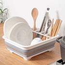 折疊瀝水碗盤架 置物架 瀝水架 收納架 瀝水籃 收納籃 置物 廚房 收納 瀝水 碗盤 居家