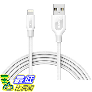 [106美國直購] Anker PowerLine+ Lightning Cable(6ft)Durable and Fast Charging Cable -White 充電線 傳輸線